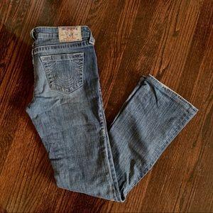 True Religion boot cut medium wash size 27